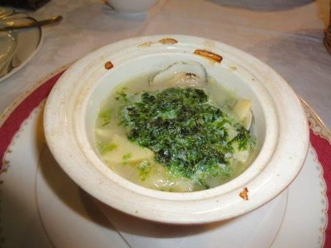 蛤と山菜と青のりのポトフ