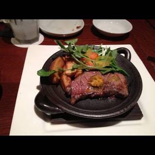 サーロインステーキの鉄板焼き