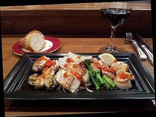 魚介と野菜の鉄板焼き 和風そーす
