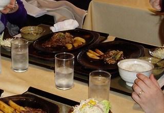 亀岡牛モツ焼きランチ