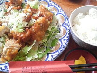 チキン竜田揚げ定食