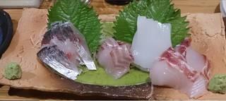 天然魚のお刺身盛合せ一人前