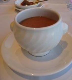 生うにとフカヒレのスープ