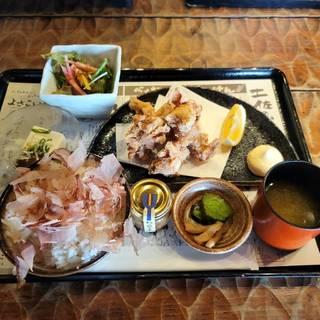 土佐流 鶏のから揚げ定食