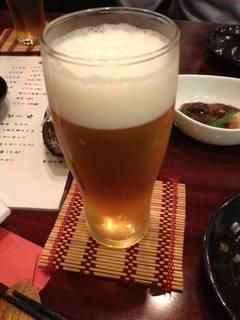 ハッピーアワーの生ビール