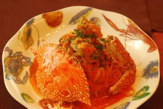 渡り蟹のトマトスパゲティ