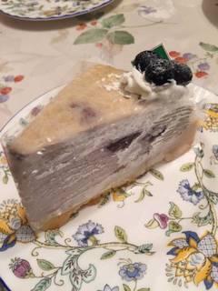 ブルーベリーと豆乳のミルクレープタルト