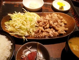 地鶏の塩焼き定食
