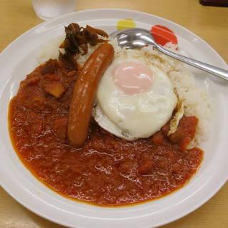 ソーセージエッグトマトカレー