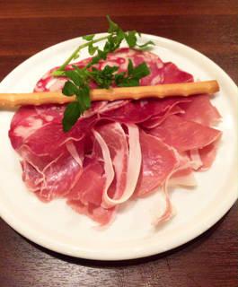 イタリア産プロシュートとサラミ