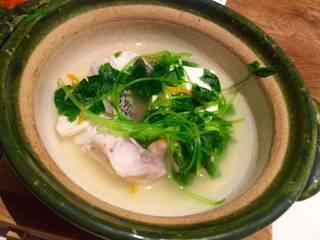 真鱈と白子のちり鍋