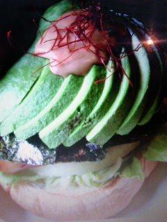 アボガドのハンバーガー