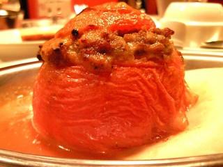 トマトの肉詰め焼き