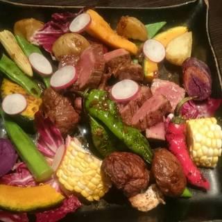 3500円コース お肉の焼き物