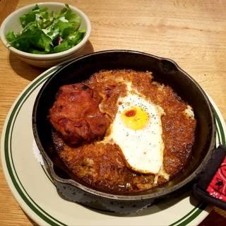 地養鶏と卵のあつあつカレードリア