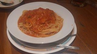 トマトとにんにくのスパゲッティ