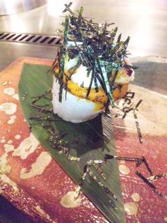 山芋と帆立貝のウニ焼