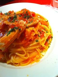渡り蟹のトマトソース