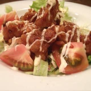 トマト唐揚げサラダ