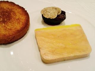 鴨ファアグラのテリーヌ いちじくとブリオッシュ・トースト