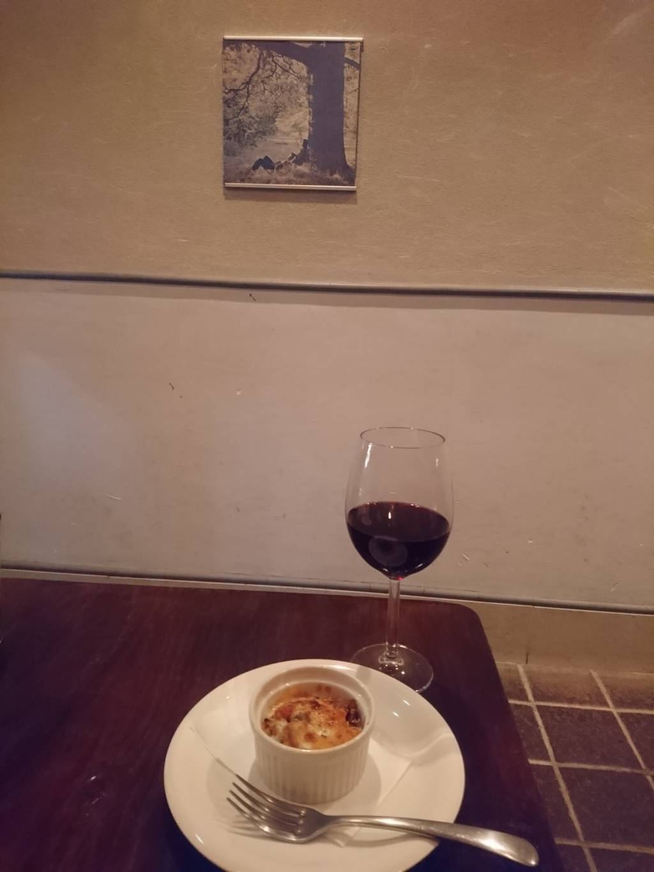 前菜と赤ワイン