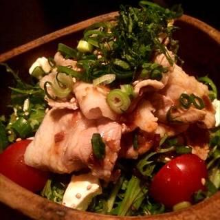岩中ポークの豚シャブ ノンオイルゆず風味サラダ