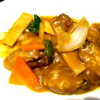 マレーシア風カキと椎茸の炒め