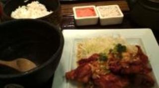 鶏の唐揚 刻み葱ソース膳