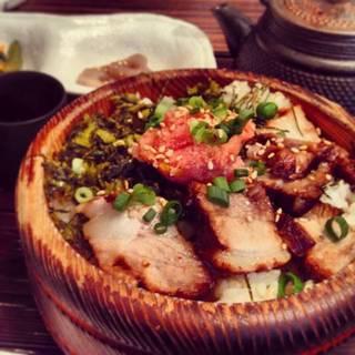 ランチ 博多明太子と角煮と高菜
