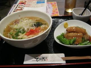 ソーキそば&ミニラフテー丼