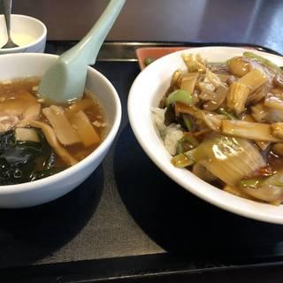 中華丼+半ラーメン