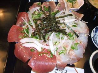 海鮮三色お造り丼定食