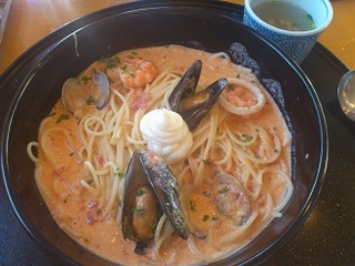 地中海風海老とあさりのスープスパゲッティ