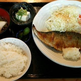 究極のとろさば塩焼き定食(ご飯・船場風せんべい汁・小鉢付)