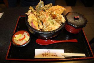 甘エビと加賀野菜の天丼