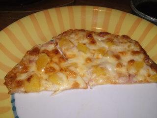 生ハムと桃のピザ