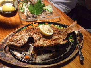 魚のバター焼き定食
