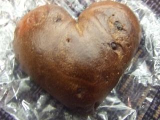 ハートのチョコレートベーグル