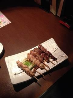 大山鶏の串焼き盛り合わせ