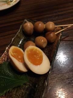 ウズラ&半熟卵