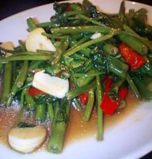 空心菜のタオチオ炒め