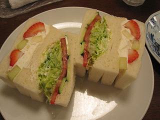 野菜&フルーツサンドイッチ