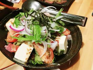 海鮮豆腐サラダ