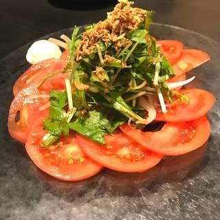トマトスライス サラダ仕立て