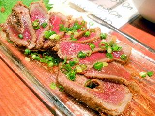 炙り牛肉のたたき