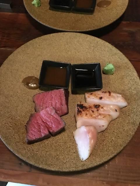 熟成肉2種の盛り合わせ