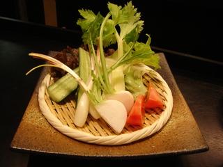 まるごとお野菜の豚味噌ディップ