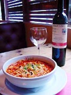 トマトスープのパスタ