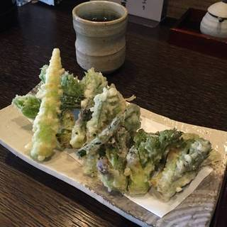 たらの芽たっぷりの山菜天ぷら