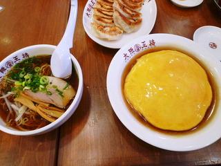 天津飯ラーメンセット